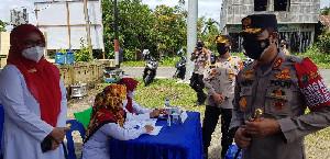 Gerai Vaksinasi Presisi Polsek Indrapuri Ditinjau Kapolda Aceh
