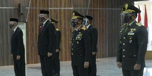 Peringatan HUT Ke-75 Bhayangkara, Gubernur Aceh dan Forkopimda Aceh Hadir