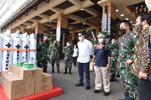 TNI AD Dibantu 380 Tabung Oksigen Dari SKK Migas dan Kadin