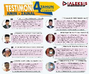 Testimoni Amin -Zainal 4 Tahun Kepemimpinan 07 Juli 2017 - 07 Juli 2021