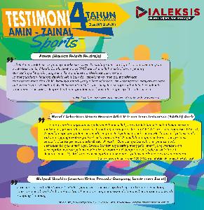Testimoni Amin -Zainal Sports 4 Tahun Kepemimpinan 07 Juli 2017 - 07 Juli 2021