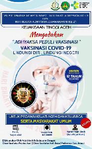 Kejati Aceh Laksanakan Adhyaksa Peduli Vaksinasi dan Ajak Masyarakat Untuk Vaksin