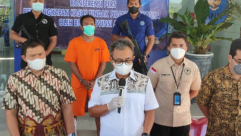 BNN Aceh Gagalkan Peredaran 31 Kilogram Sabu Asal Malaysia