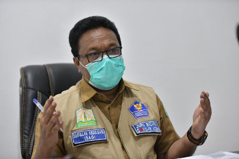 Banda Aceh dan Aceh Tengah Zona Merah, Kasus Baru Bertambah 114 Orang