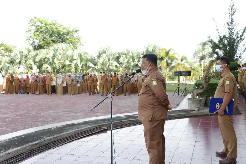 Pimpin Apel Gabungan, Ini Amanat Sekda Aceh Besar