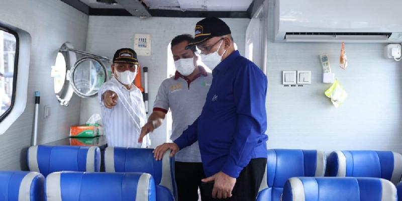 Tinjau Kapal Ambulance Laut, Sekda Aceh: Modifikasi Sesuai Kebutuhan Medis