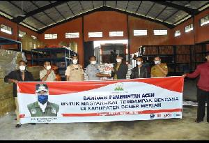 Kabupaten Bener Meriah Terima Bantuan Logistik Darurat Bencana dari Pemerintah Aceh