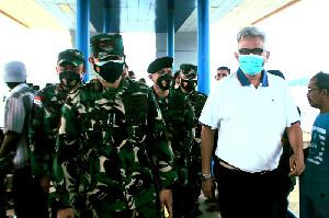 Kepala BPKS Sambut Panglima Marsma  Pertahanan Udara Sektor 3