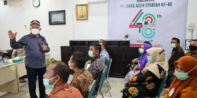Kunjungi Kantor BAS Cabang Sinabang, Taqwallah: Tingkatkan Kinerja Untuk Kemajuan Bank