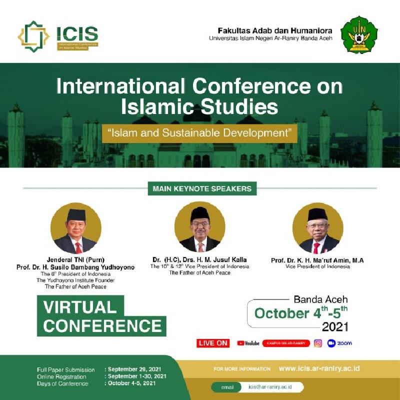 UIN Ar-Raniry Selenggerakan ICIS, Hadirkan SBY, Jusuf Kalla, dan Wapres