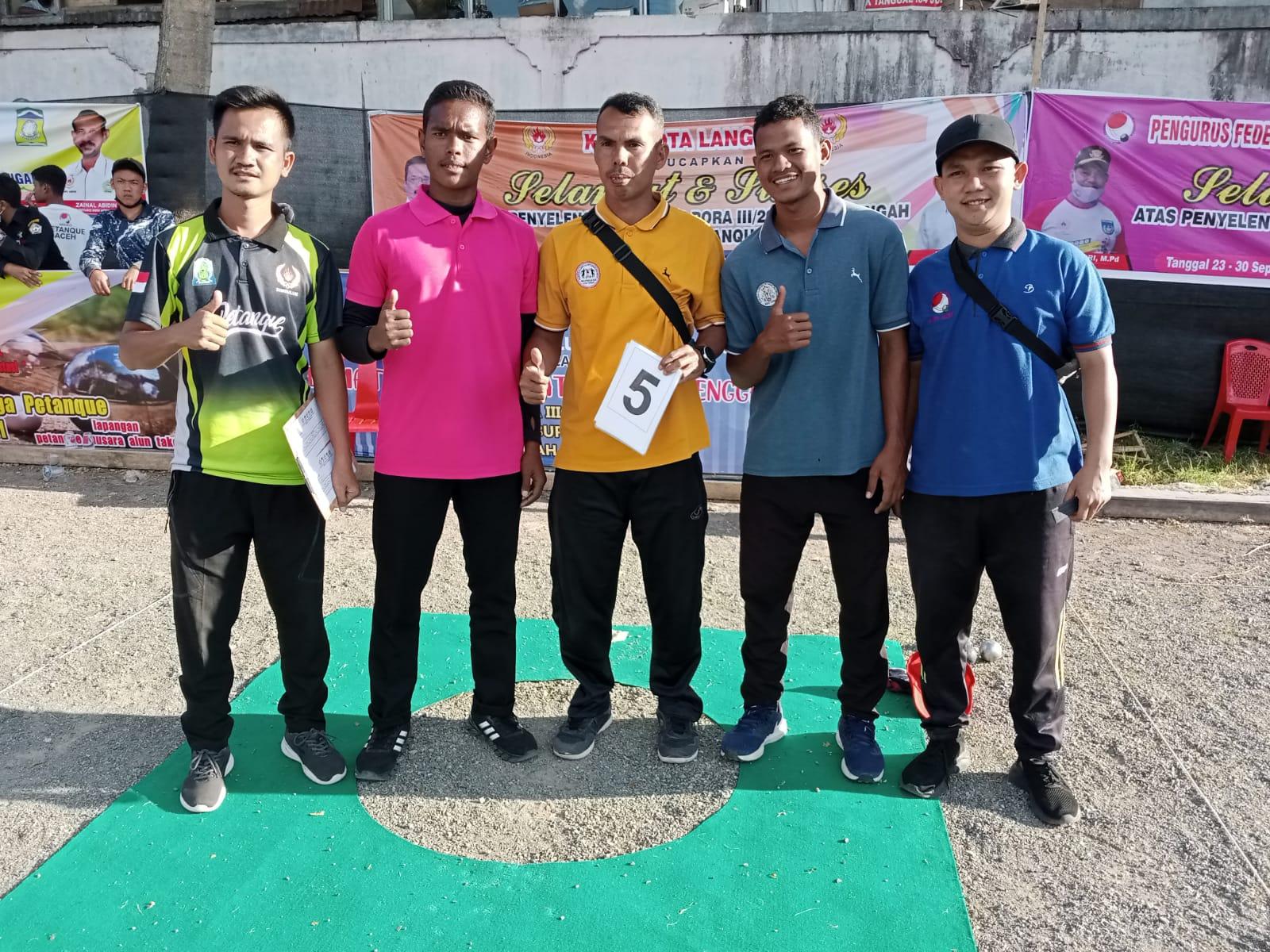 Hari Pertama Pra PORA Petanque, 7 Atlet Telah Lolos ke PORA Sigli