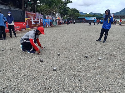 Pra PORA Petanque, Walau Hujan Bireuen dan Aceh Jaya Tambah Medali Emas