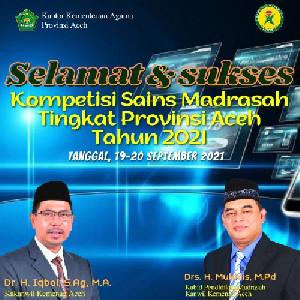 Besok Minggu, Kemenag Aceh Gelar KSM Tingkat Provinsi