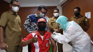 Kadis ESDM Aceh Bersama Pertamina dan Hiswana Migas Tinjau Vaksinasi Petugas SPBU