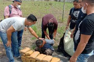 Polda Sumut Meringkus Sopir Bawa Ganja Dari Aceh Sebanyak 30 Kg