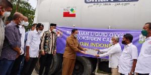 KADIN Indonesia Serahkan 20 Ton Oksigen Cair Kepada Pemerintah Aceh