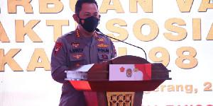 Kapolri Sapa Serbuan Vaksinasi AKABRI 98 di Aceh