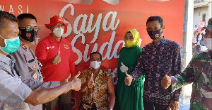BIN Aceh Gelar Vaksinasi Massal dan Door To Door di Kuta Baro Aceh Besar