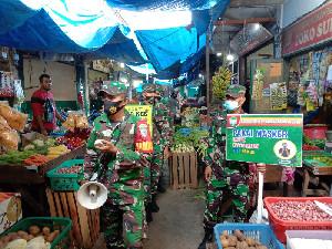 Koramil Jajaran Kodim 0101/Aceh Besar Terus Beri Himbauan Prokes