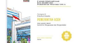 Pemerintah Aceh Peroleh Penghargaan BKN Award 2021, Gubernur Sampaikan Apresiasi