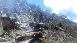 Kebakaran  Lahan di Aceh Tengah, 15 Hektar Hangus Jadi Arang