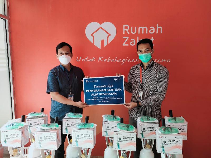 Bank Indonesia Gandeng Rumah Zakat Salurkan Tabung Oksigen di Aceh