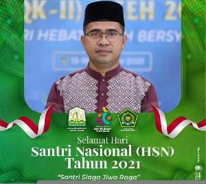 Ini Harapan Dinas Pendidikan Dayah Aceh di Hari Santri Nasional 2021