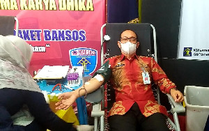 Antusiasme Donor Darah Pegawai Kanwil Kemenkumham Aceh