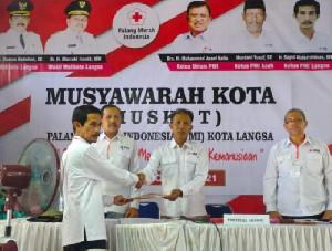 Sayid Abdurrahman Terpilih Lagi Sebagai Ketua PMI Kota Langsa