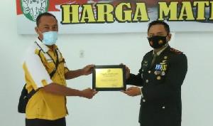 Kodim Aceh Tamiang Terima Piagam Peduli 2021