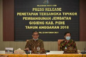 Kasus Korupsi Jembatan Gigieng Pidie, Kejati Aceh Tetapkan 5 Tersangka
