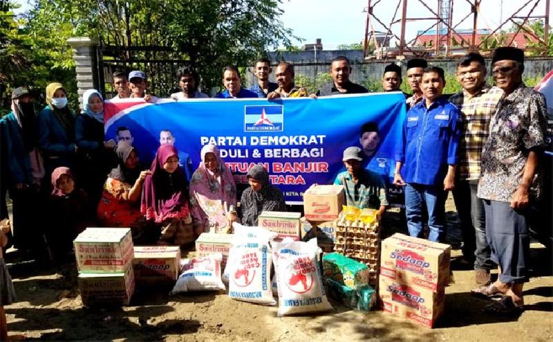 DPC Demokrat Aceh Utara dan Muslim Bantu Korban Banjir Aceh Utara